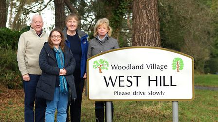 Leaders of the West Hill Parish Campaign Group (L to R) - Ian Heard, Cllr Jessica Bailey, Dr Margare