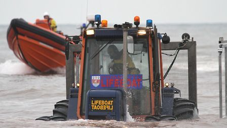 Sidmouth Lifeboat. Ref shs 4525-02-15SH. Photo Simon Horn