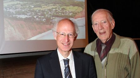 Handel Bennett of The Sid Vale Association with professor Brian Golding who was invited to talk to t