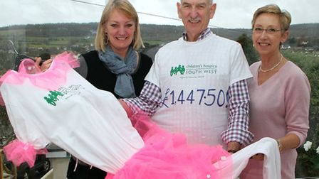 Brian Ludford who dressed as a ballerina for the Sidmouth Boxing Day Swim and raised £1447.50 in aid