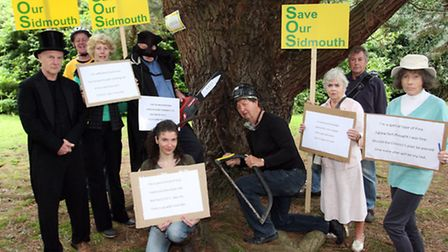 Save our Sidmouth group at the Knowle gardens in 2012. Photo by Terry Ife ref shs 1477-36-12TI To or