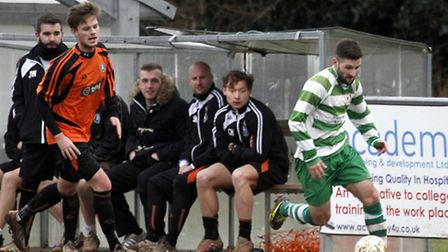 Sidmouth Town at home to Okehampton. Ref shsp 2602-07-15TI. Picture: Terry Ife