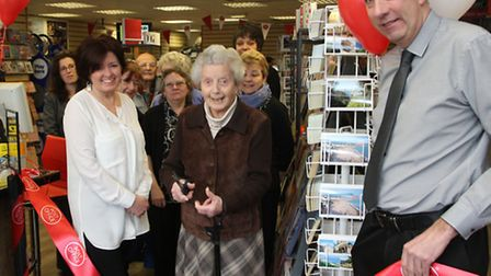 Centenarian Mrs Moira Yorke-Davies officially opened the refurbished Sidmouth Post Office this week.