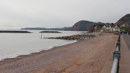 Shingle restoration work on Sidmouth beach finished this week - two weeks ahead of schedule