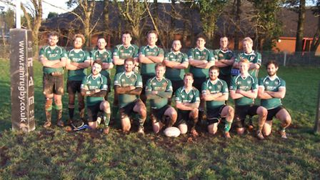 Sidmouth third XV rugby team before their meeting with Crediton