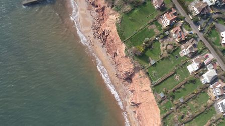 An image taken by the fixed wing drone on Thursday.