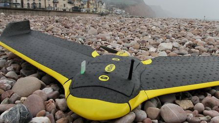 The lightweight droneon Sidmouth beach this week. Ref shs 0820-12-15SH. Picture: Simon Horn