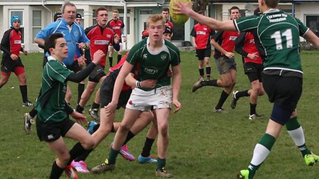 Action from Sidmouth Under-15s versus Stonehouse