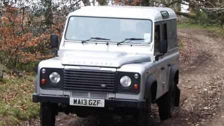 The police Land Rover was out on Sunday morning as part of the crackdown