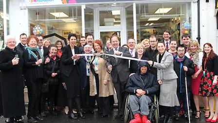 MP Hugo Swire was joined by councillors, staff and representatives to officially open the new WESC c