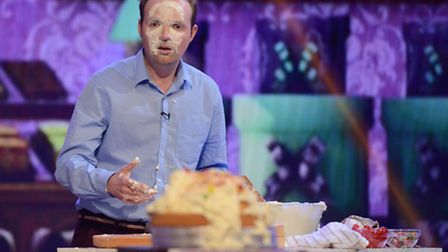 Alex Poulton taking part as a contestant on You're Back In The Room