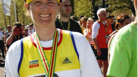 Jo Earlam from Tipton St john, who is running the New York marathon next month to raise money for 10