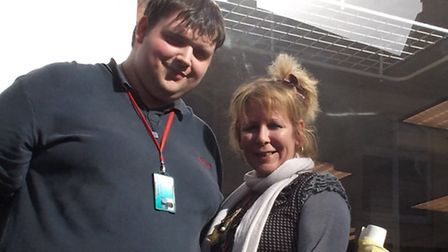 WESC intern Harry Roberts and manager Sharon Green
