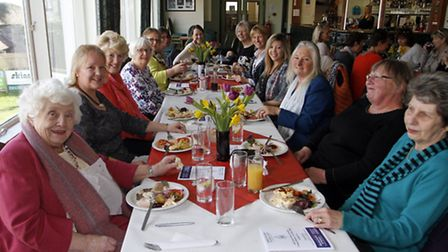 Ladies do lunch at Sidmouth rugby club. Ref shs 4243-13-15TI. Picture: Terry Ife