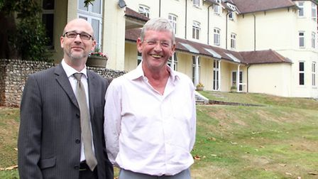 Cllr Paul Diviani and Richard Cohen at the Knowle. Picture by Alex Walton. Ref shs 8232-30-13AW