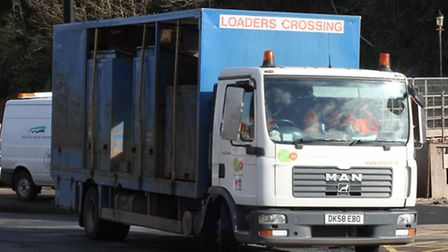 District council recycling lorry. Ref shs 8752-10-15SH. Picture: Simon Horn