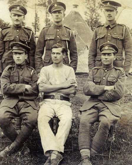Peter's father William [right, back row] in 1916.
