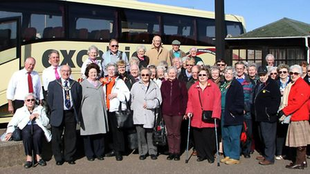 A civic welcome from Cllr John Hollick was given to a coach party from Bournmouth who came to visit