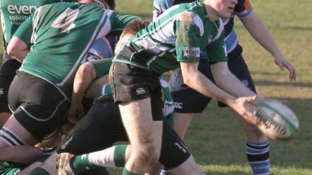 Sidmouth 2nds are pictured playing Topsham at the Blackmore on Saturday afternoon. Ref shsp 9237-11-