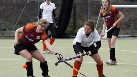 Sidmouth & Ottery ladies 4th team at home to Honiton Hornets. Ref shsp 2553-07-15TI. Picture: Terry