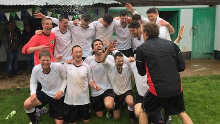 Fluxton celebrate Fresha League promotion and the Division Five title