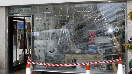 April Fools window at Pure Indulgence. Ref shs 5091-14-15TI. Picture: Terry Ife