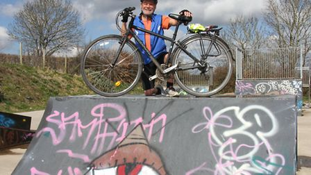 Trevor Leahong will be cycling across Cyprus to raise money for the Ottery St Mary skate park. Ref s