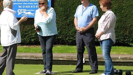 Ottery St Mary bowls and coaches John and Terri Ward help new players with the noble sport
