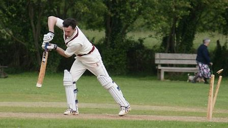 Joe Birch is bowled in the Tipton meeting with Southgate