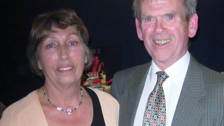 Sidmouth indoor captains for 2014/15 Zena Johnson and David Fairclough