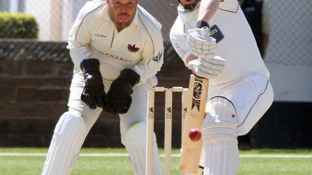 Sidmouth v Exmouth. Nick Gingell batting for Sidmouth. Ref shsp 6675-21-15AW. Picture: Alex Walton