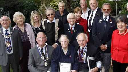 Afternoon tea for Nancy Bowstead an RBL member for 70 years. Ref shs 6853-21-15TI. Picture: Terry If