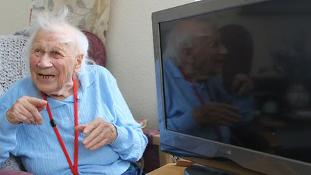 Gertrude 'Topsy' Hindley who recently celebrated her 103rd birthday has lived her life without a tel