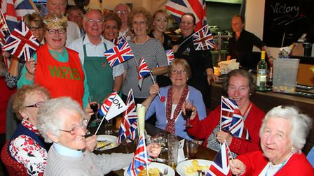 VE anniversary lunch at Lamb and Flag, Ottery St Mary. Ref sho 6049-19-15AW. Picture: Alex Walton