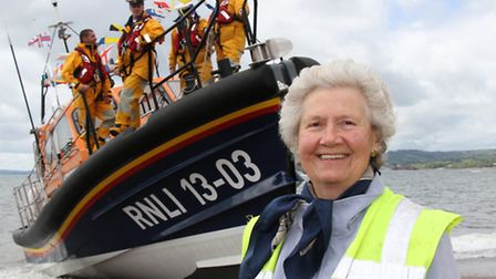 Annette Richardson: neice of the benefactors of the Exmouth lifeboat is pictured at the naming cerem