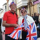 Sidmouth 70th anniversary of VE Day party. Ref shs 5952-20-15SH. Picture: Simon Horn