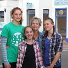 Juliet Squire with her daughters Florence, 16, Martha, 11 and Harriet, 15. The family will be openin
