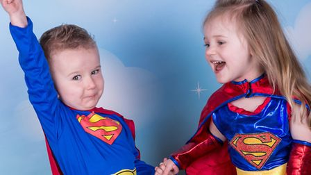 Myles Yeoman, three, and Keeleigh Campbell, three, will be supporting Ameila in June.