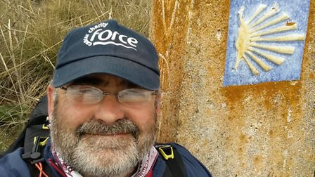 Dr King walked the Camino de Santiago for Force 1