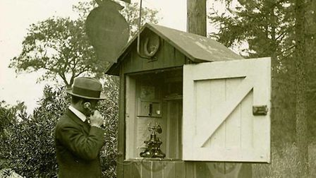 An AA roadside box in the 1920s. Picture: Automobile Association