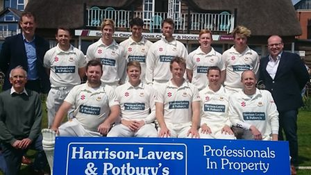 Sidmouth 1st XI with sponsors