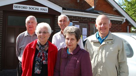 Beryl and Colin Kingman, Jan Baker, Tony Lavers and Ian McKenzie-Edwards hope to prevent Sidford Soc