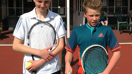 Ollie Truman and Louis Spalding who contested the Sidmouth final of the HSBC Road to Wimbledon event