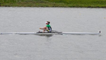 Talullah Bowyer who rowed to the gold medal in the Junior Inter-Regional Rowing Regatta in Nottingha