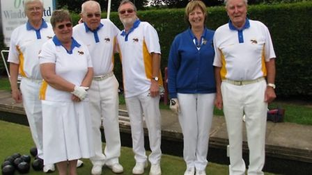 Competitiors in the Ottery St Mary Triples Weekend semi-finalists