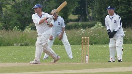 Tipton CC batsman David Dawson in action