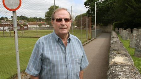 Sidmouth resident Bert Hague is calling for cyclists to dismount while on the path between the paris