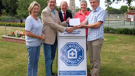 Sidmouth Hospiscare make a generous donation to Sid Valley Memory Cafe's Admiral Nurse for Sidmouth