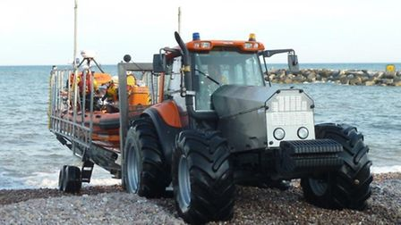 Sidmouth Lifeboat's new tractor