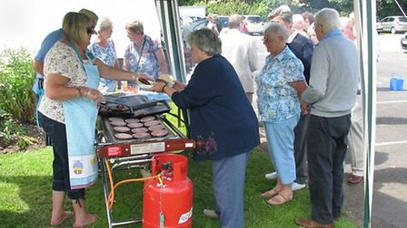 The barbecue at the 25th anniversary celebrations